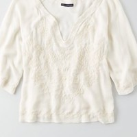 AEO Lace Drapey Tank , Buff   American Eagle Outfitters