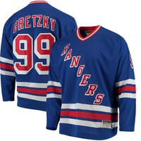 Men's New York Rangers Wayne Gretzky CCM Royal Heroes of Hockey Authentic Throwback Jersey