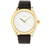 FOREVER 21 Faux Leather Analog Watch