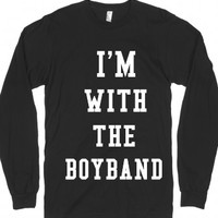 i'm with the boyband-Unisex Black T-Shirt