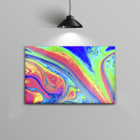 The Neon Color Fusion V9 Home Decor Stretched Wall Canvas Print