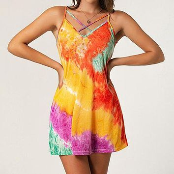 2020 new arrival women's tie-dye printed camisole top
