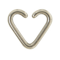 14G Steel Heart Captive Hoop