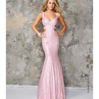 Preorder - Nina Canacci 9070 Blush Pink Sexy Sequin Lace Long Dress 2016 Prom Dresses
