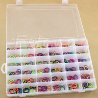 Hot Sale New Practical Adjustable Plastic 36 Compartment Storage Box Case Bead Rings Jewelry Display Organizer Free Shipping