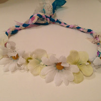 peaceful white flower crown