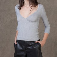 Ribbed lurex jersey - KNITWEAR - WOMAN | Stradivarius Republic of Ireland