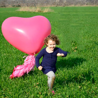"""Valentine's Day Heart Shaped 36"""" Latex Giant Balloon - Wedding ,Photo Prop, Birthday , Engagement, Party Decoration"""