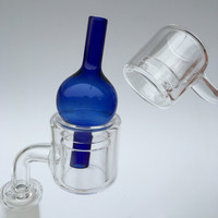 Quartz Thermal Banger | Double wall 29mm 14 mm male + Carb Cap