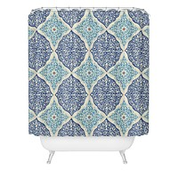 Belle13 Curly Rhombus Shower Curtain