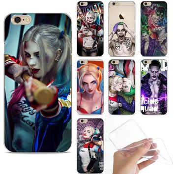 Suicide Squad Joker Harley Quinn DC Comics Soft Silicone Phone Case Cover For iphone 8 8Plus 7 7Plus 6 6S 6Plus 5S SE