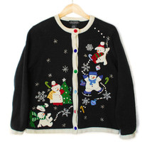 Four Snowmen Tacky Ugly Christmas Sweater