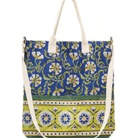 Blue Moroccan Fabric Tote Bag & Coin Purse