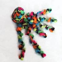 Neon Jellyfish Toy - Hand crocheted - Great Baby Gift or Toddler Present