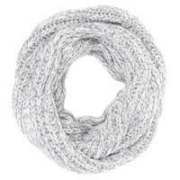 Gray Chunky Knit Infinity Scarf by Charlotte Russe