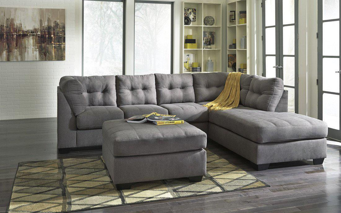 Image of Ashley 452 Sectional w/ Ottoman