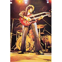 Led Zeppelin Jimmy Page Guitar Poster 24x36