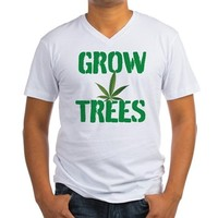 GROW TREES Men's V-Neck T-Shirt> Grow Trees> 420 Gear Stop