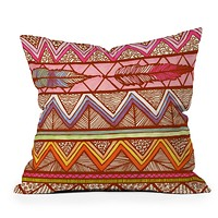 Lisa Argyropoulos Two Feathers Throw Pillow
