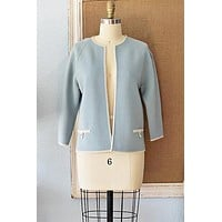 Vintage Powder Blue  Sweater Jacket