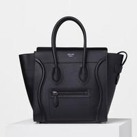 Micro Luggage Handbag in Drummed Calfskin