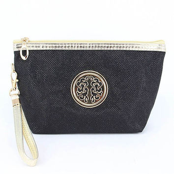 Cosmetic Black Travel Pouch   11cmhigh,17cmlong,7cmwide