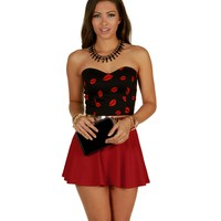 Sale-red Give Me Smooches Bustier