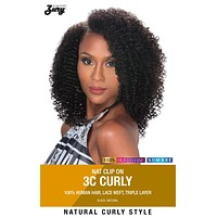 """Zury Naturali Star 3C Curly 12"""" Clip On 9 Pieces 100% Human Hair Clip & Go"""