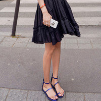 Leather Flat Party Sandals