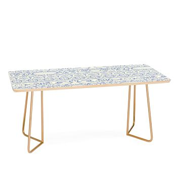Pimlada Phuapradit Lace drawing blue and white Coffee Table
