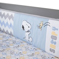 Peanuts My Little Snoopy Crib Bumper by Lambs & Ivy (Blue/Ivy)