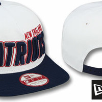 Mobile Snapback Hats Patriots BIGSIDE A-FRAME SNAPBACK White-Navy Hat by New Era Custom 59FIFTY Fitted Hats and 9FIFTY snapbacks