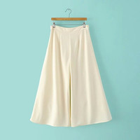 Summer Women's Fashion Stylish Zippers Chiffon Pants [4919986756]