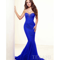 Terani 2014 Prom Dresses - Royal Crystal Mermaid Silhouette Prom Gown