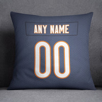 Chicago Bears Pillow Front and Back 18 x 18 - Print Personalized Select ANY Name & ANY Number