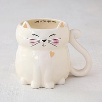 I Need Coffee Right Meow Cat Folk Mug