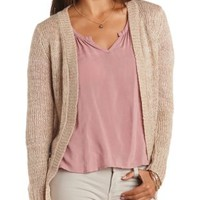 Fuzzy Marled Cardigan Sweater by Charlotte Russe