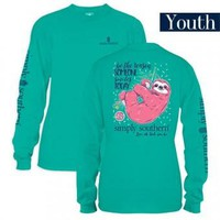 """*Closeout* Youth Simply Southern Long Sleeve - """"Sloth"""""""
