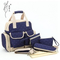 Fashion Mother Bag Baby Bags Multifuctional Maternity Mummy Backpack Stroller Nappy Changing Diaper Backpack Handbag MMB-8