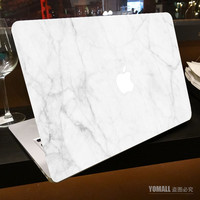 "Milk White Marble Grain Full Front Cover Skin Sticker for Apple Marble MacBook Pro Air Retina 11"" 13"" 15"" Laptop Decal Sticker"