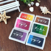 Multicolour Creative DIY Oil Rubber Stamps Ink Pad for Wedding Decoration Party Favors and Gifts Craft Supplies Fingerprint Tree