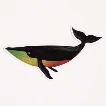 Rasta Whale Sticker
