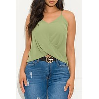 Clarissa Top Dusty Green