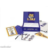 LSU My Game Day Kit (Journal, Backpack, Stickers, Tatoos & More) NEW IN BOX