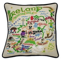 Ireland Hand Embroidered Pillow