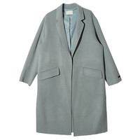 Flap Pocket Notched Collar Coat (Sky Blue) | STYLENANDA