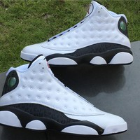 Air Jordan Retro 13 Love And Respect White Black Gold Real Carbon Fiber Authentic Leather Original Best Quality Come With Real Box