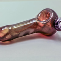 Transparent Black Honeycomb with White Ringlets and Mokume-Gane Marble Glass Pipe