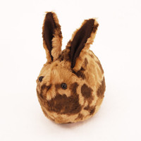 Wilber Calico Bunny Faux Fur Plushie Momma Size