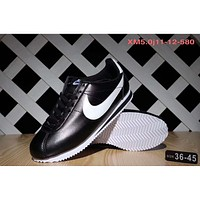 NIKE Classic Cortez Forrest sports running shoes F-SSRS-CJZX Black - white hook